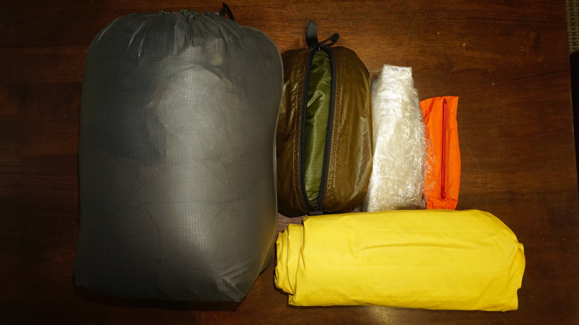 Backpack hunting sleep system