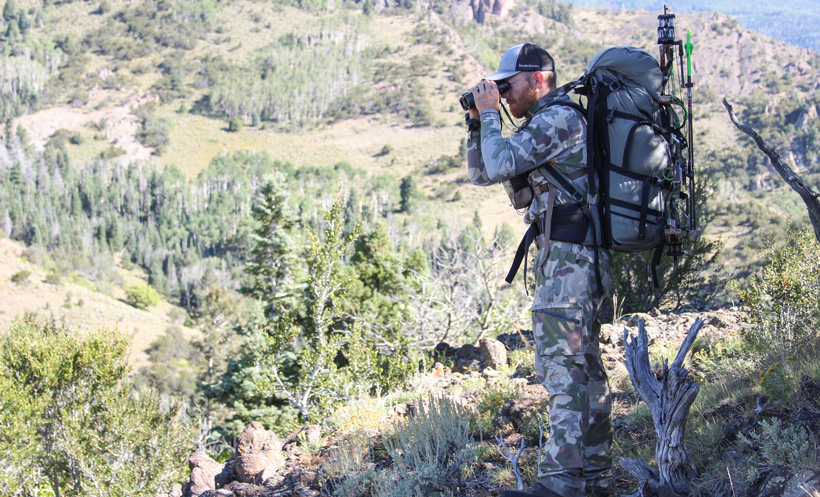 Backpacking for bull elk in the mountains