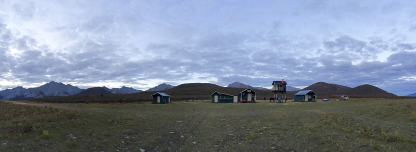 Base camp location in the Yukon