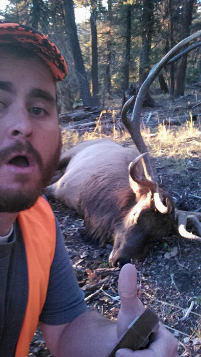Ben and a selfie with the bull elk