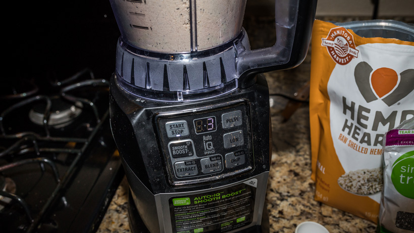 Blending high calorie backcountry breakfast