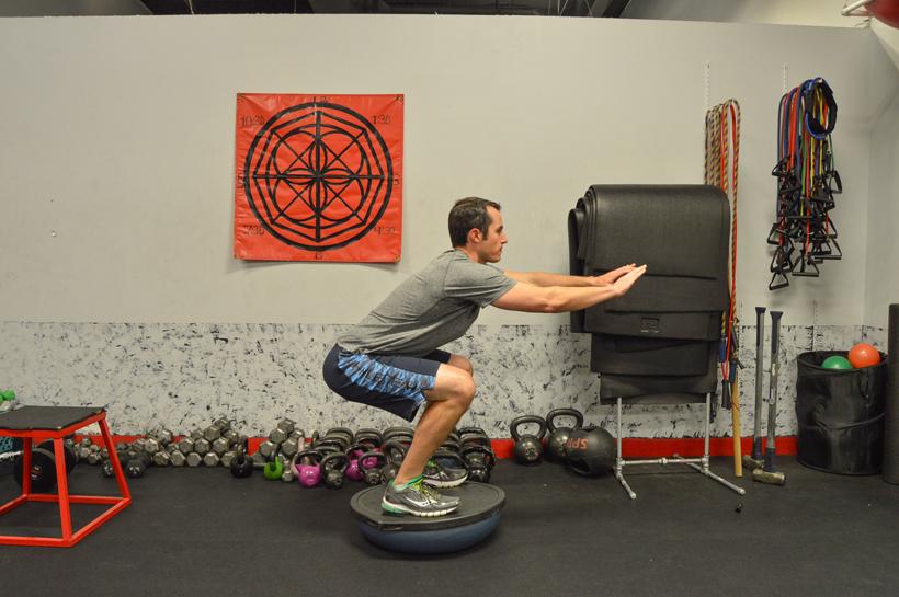 Bosu ball for stability training