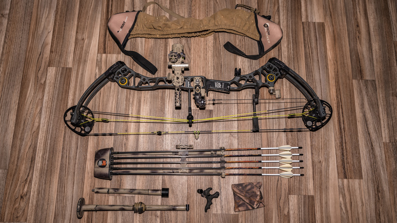 Bow and accessories for mule deer hunting