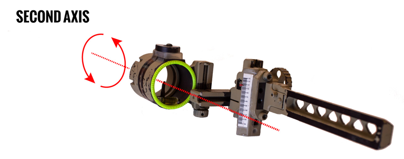 Bow sight second axis