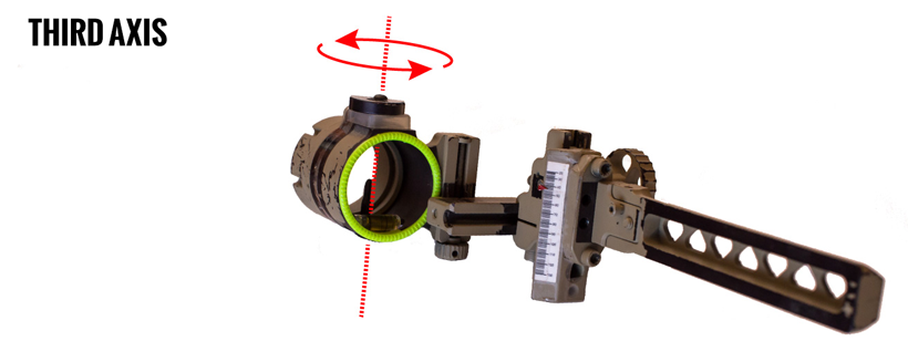 Bow sight third axis