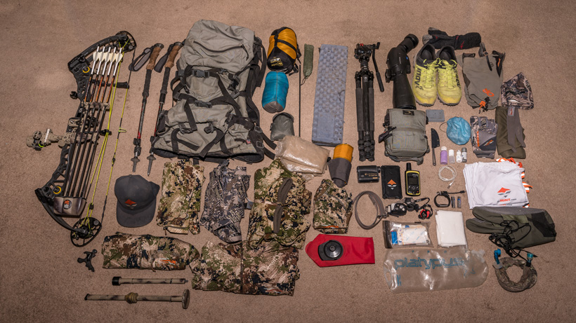Brady Miller 2018 backcountry early season mule deer gear list