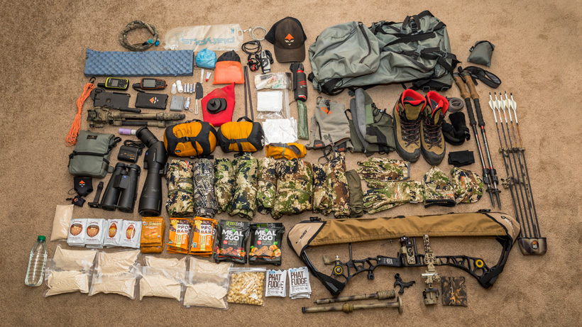 Brady Miller backcountry hunting gear list for 2017