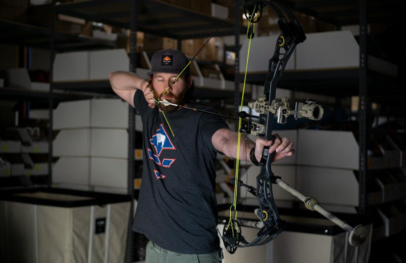 Brady Miller blank bale archery practice