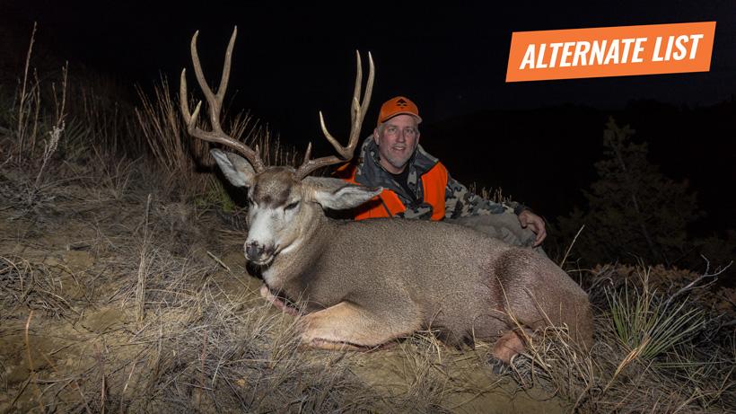 Brady Miller's dad with a general season Montana mule deer