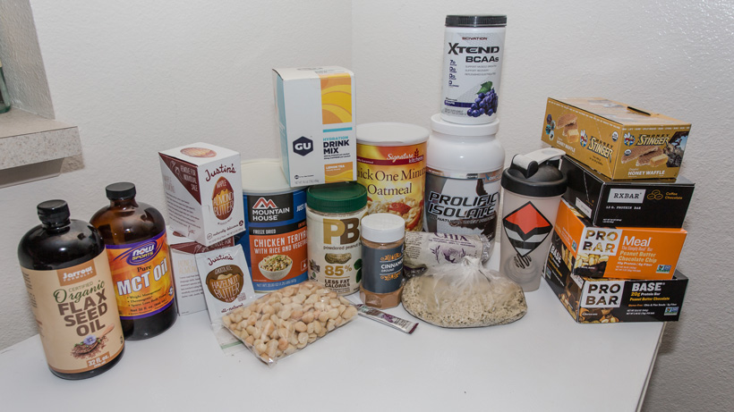 Brady Miller food items for backcountry hunting