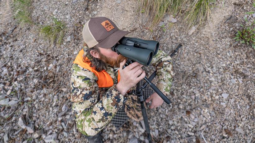Brady Miller glassing with the Vortex Diamondback HD 15x56 binoculars