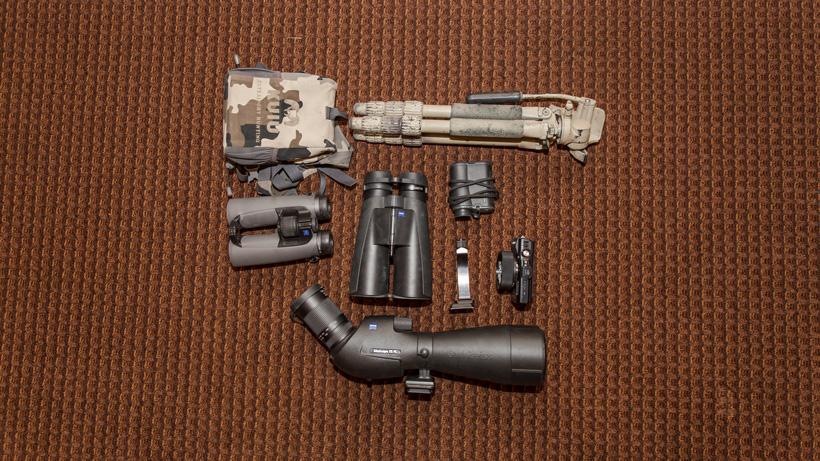 Brady Miller optics setup for backcountry hunting