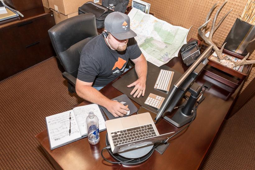 Brandon Evans calling a biologist for hunting info