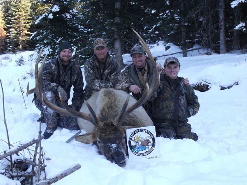 "Brandon Schmitz with 50"" wide bull"