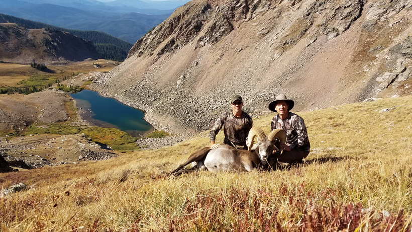 Brandon and Lee with the bighorn sheep