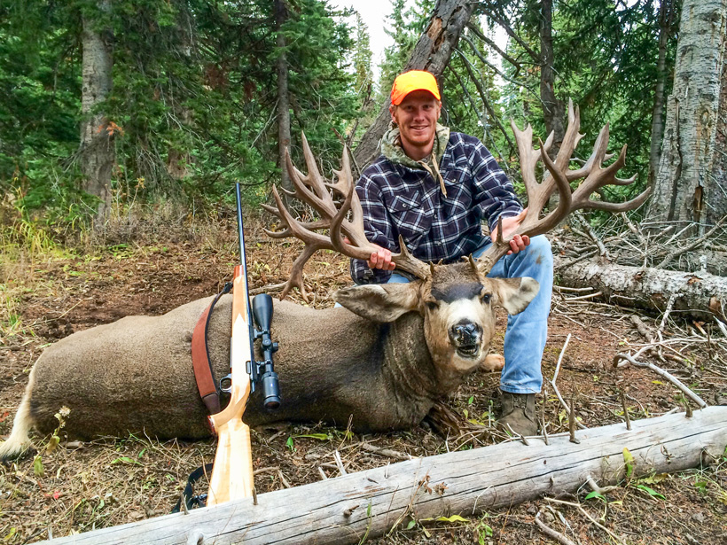 Brett Ross with his 300 inch Colorado mule deer