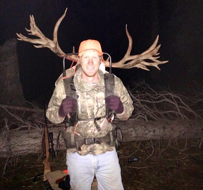 Brett Ross with his mule deer