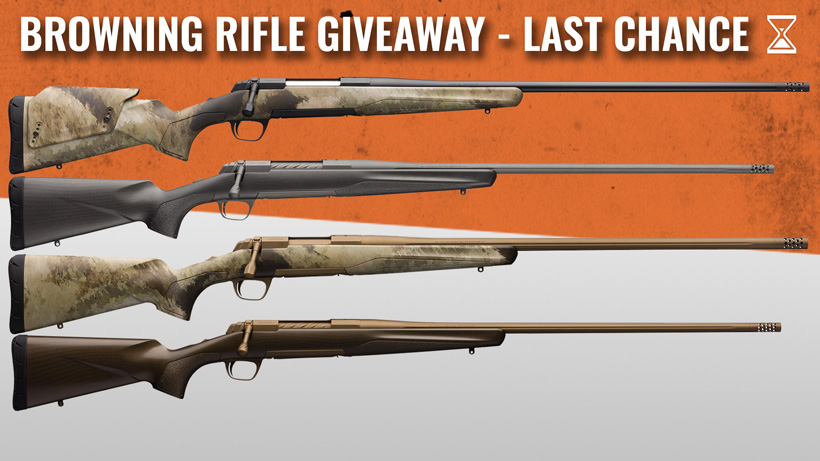 August Browning Giveaway - Last Chance!!