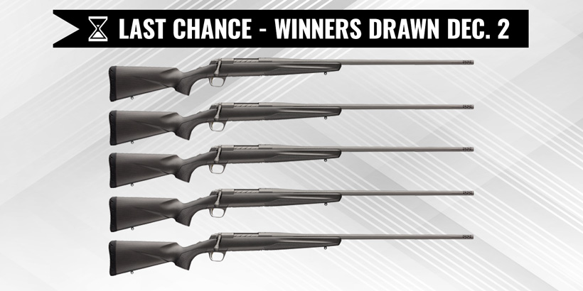 Browning X-Bolt Pro 6.5 PRC rifle giveaway last chance