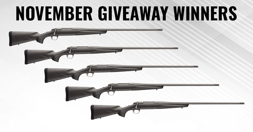 Browning X Bolt Pro 6.5 PRC rifle giveaway winners