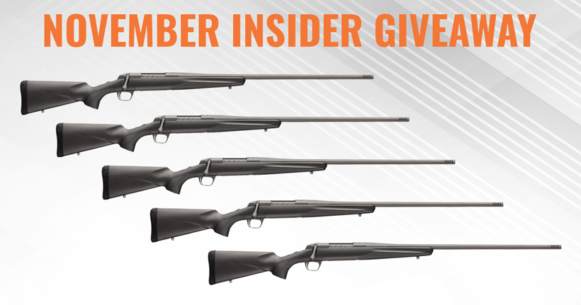 Browning X-Bolt Pro 6.5 PRC rifle giveaway