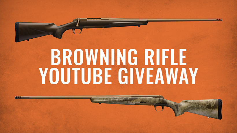 Browning X-Bolt rifle YouTube giveaway