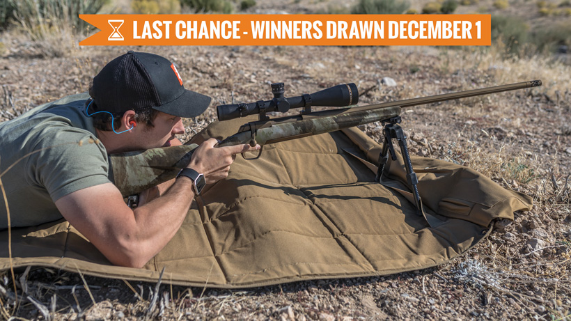 Browning X-bolt Hells Canyon Long Range rifle giveaway last chance