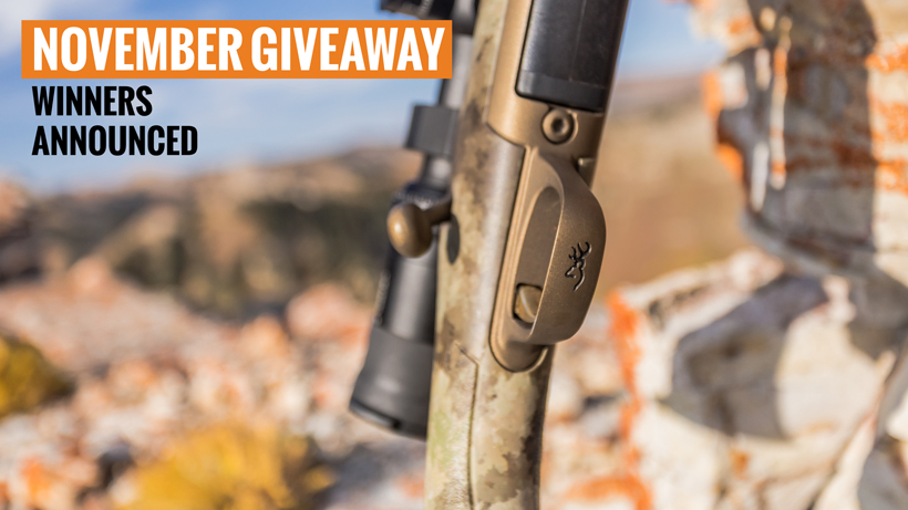 Browning X-bolt Hells Canyon Long Range rifle giveaway winners