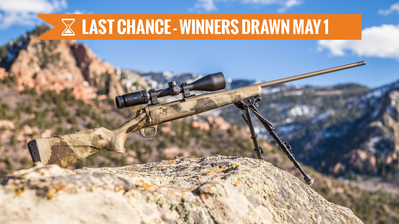 Browning X-bolt hells canyon speed rifle giveaway last chance