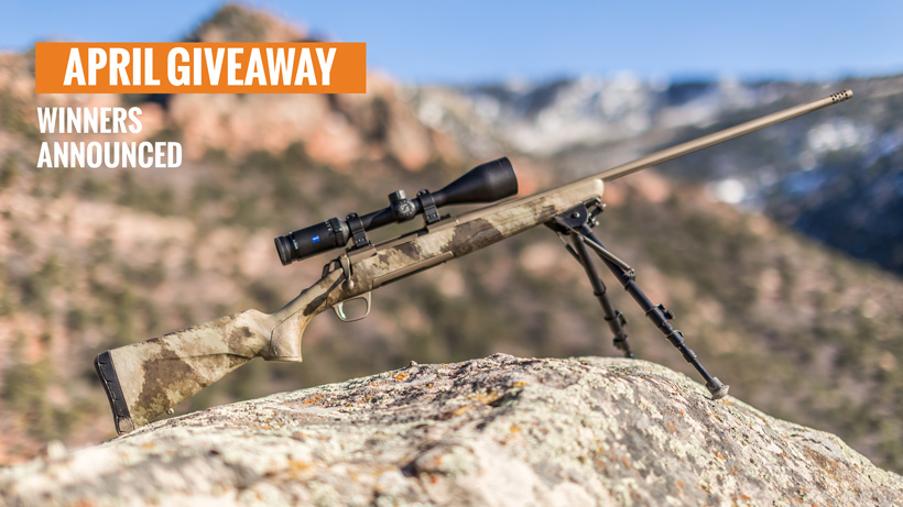 Browning X-bolt Hells canyon speed rifle giveaway winners