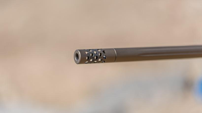 Browning X bolt rifle muzzle brake