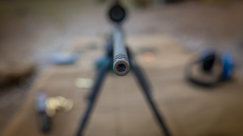 Browning X bolt pro long range rifle muzzle brake