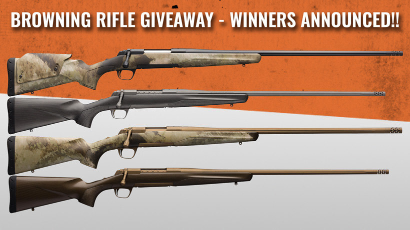 Browning giveaway winners announced