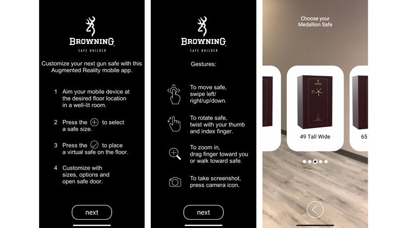 Browning mobile safe builder app