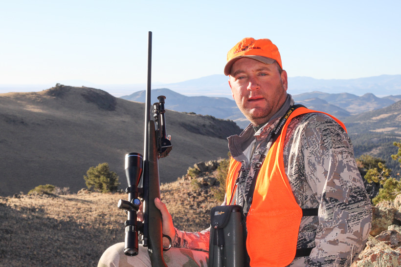 Bryant Johnson overlooking some Colorado mule deer country