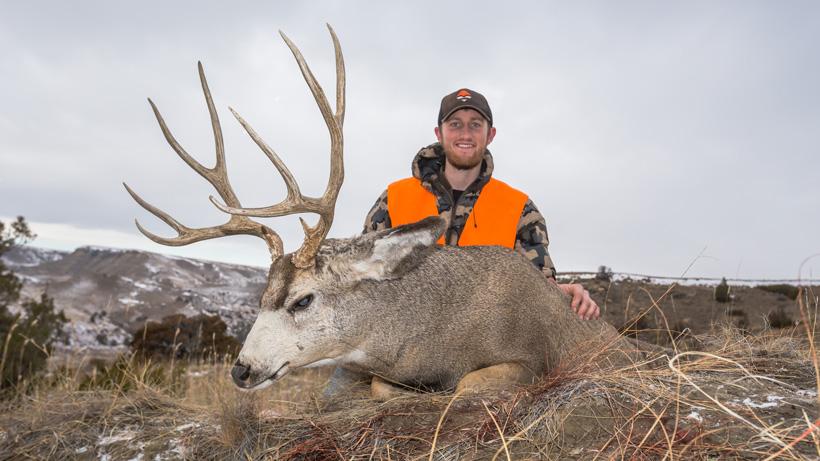 Bryce Miller with his 2014 Montana mule deer buck