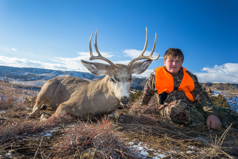 Bubba with his Montana mule deer
