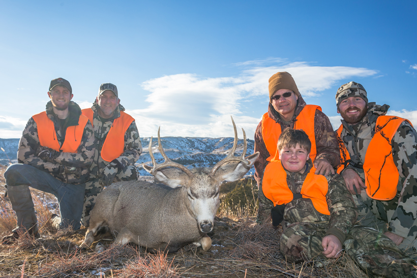 All of the group with Bubba's deer