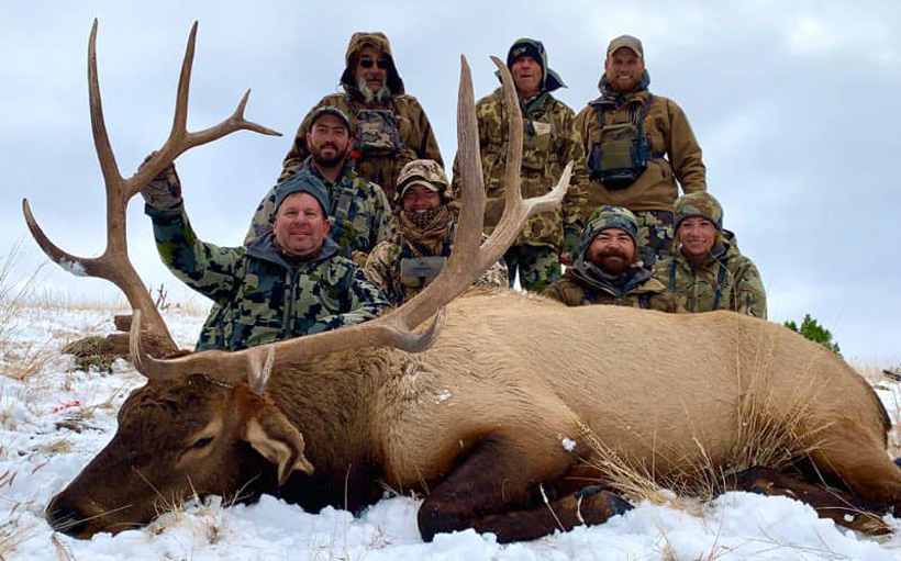 Bull elk taken with Big Rim Outfitters