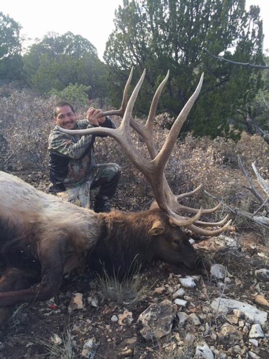 Bull elk taken with Ridgeline Outfitters