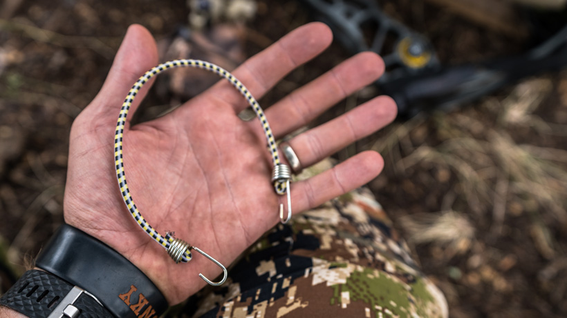 Bungee cord for bowhunting quiver