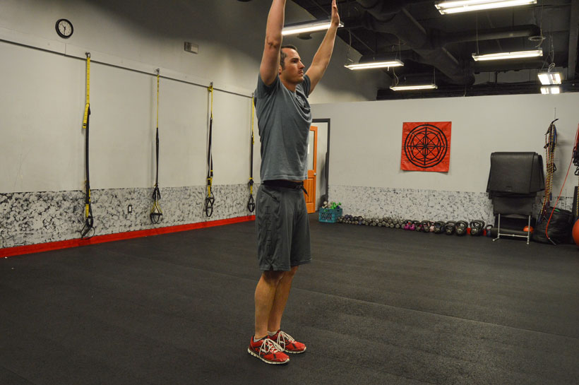 Burpee workout step 4