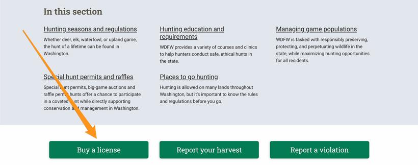 Buy a Washington hunting license