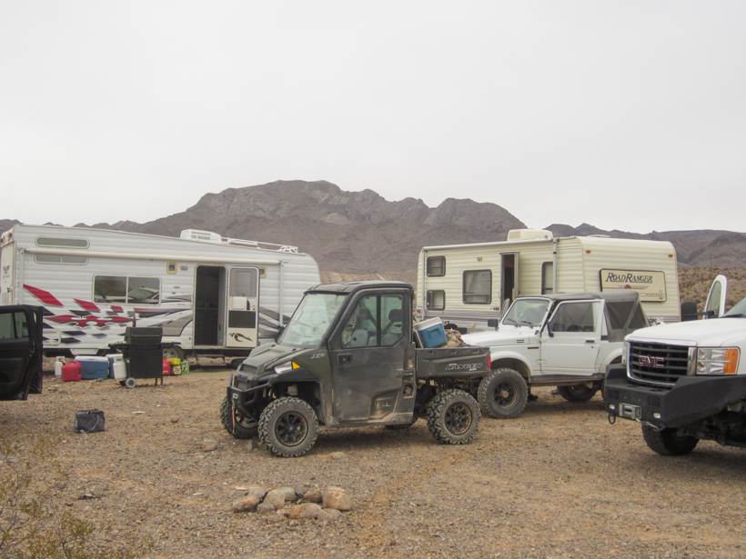 Camp in Desert sheep country