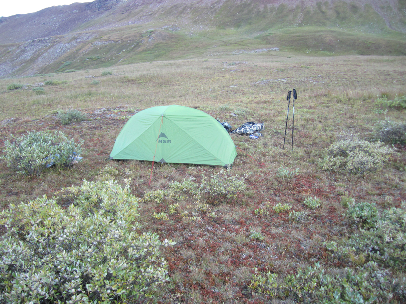 Backcountry camp location
