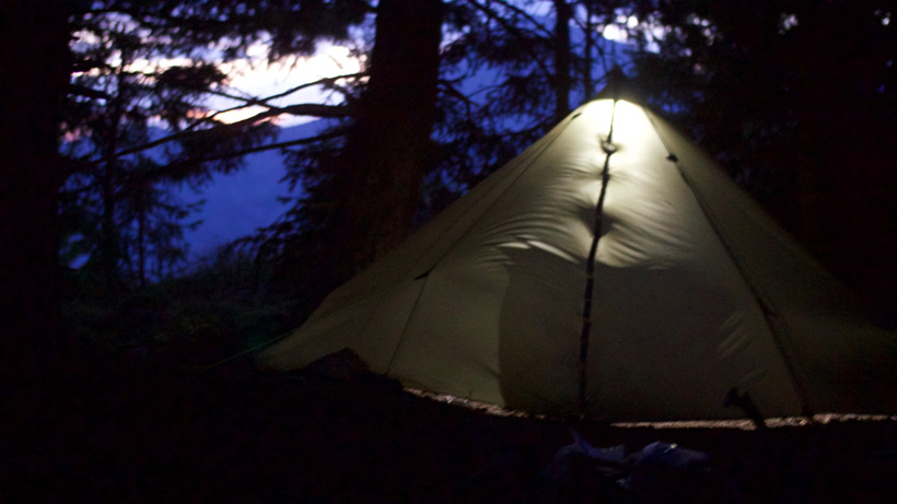 Camping solo in the backcountry