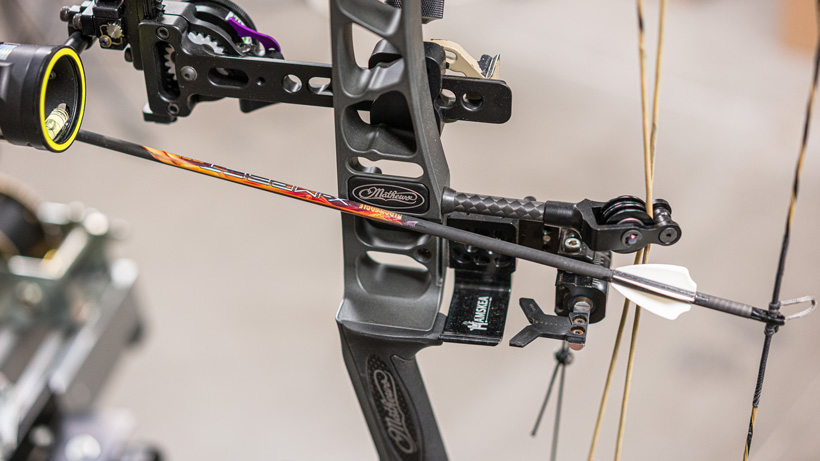 Checking arrow contact on Mathews bow riser