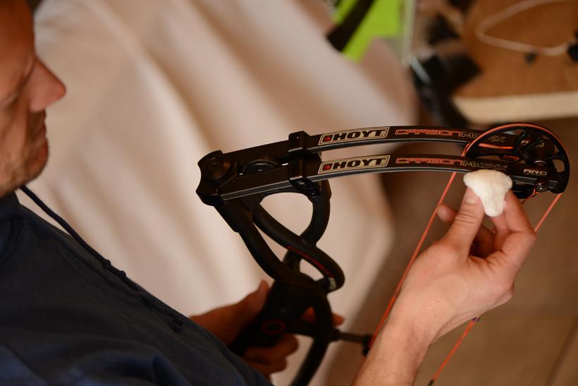 Checking limb for splinters