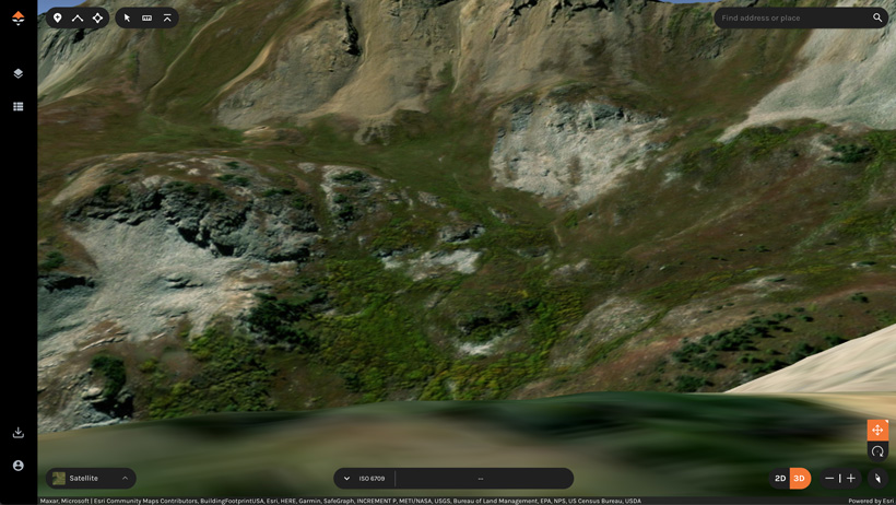 Checking out glassing points e-scouting in 3d imagery