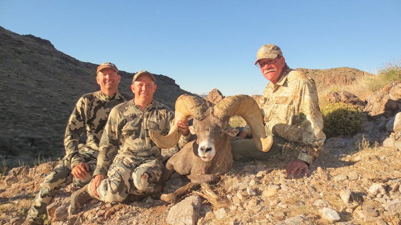 Claude Warrens desert bighorn sheep taken with Colburn and Scott Outfitters